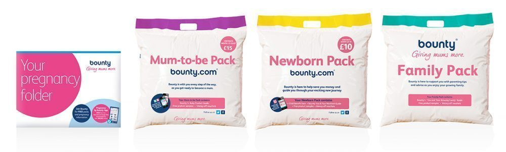 4 Bounty packs for new mums