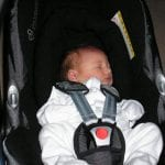 Baby Mia in her car seat