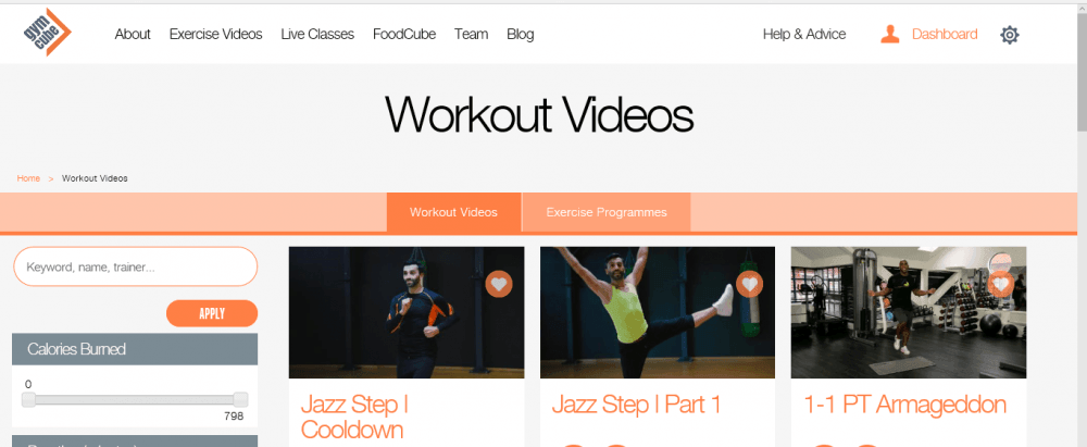 Gymcube Online Workout Review