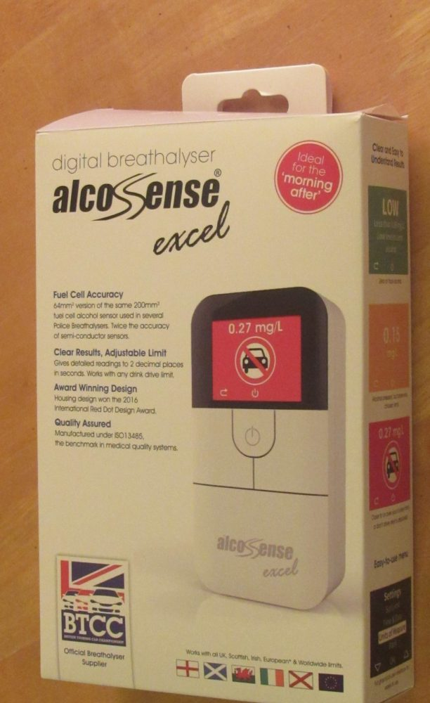 Home Breathalyser with the Alcosense Excel