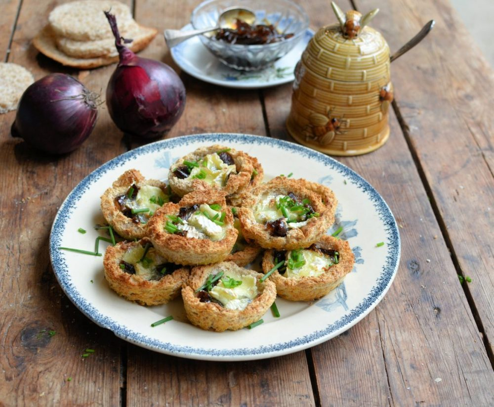 Le Rustique Brie Tartlets with Honey Onion Relish