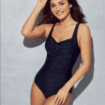 tummy control navy swimsuit