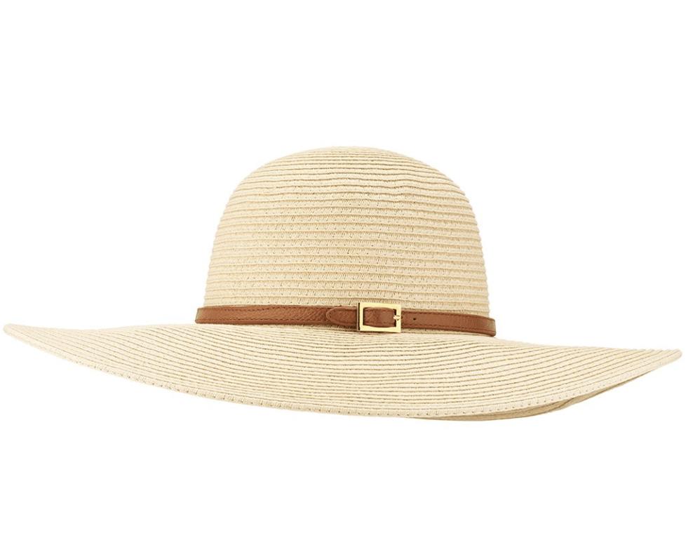 wide brim brown hat