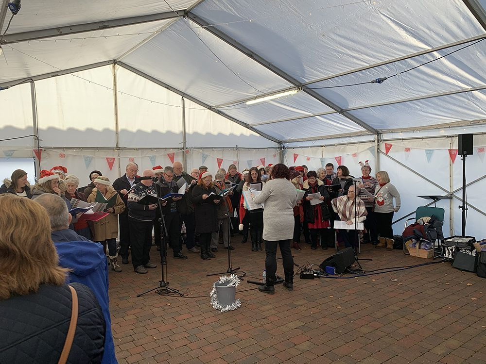 Lincolnshire Choir Performing in a Marquee