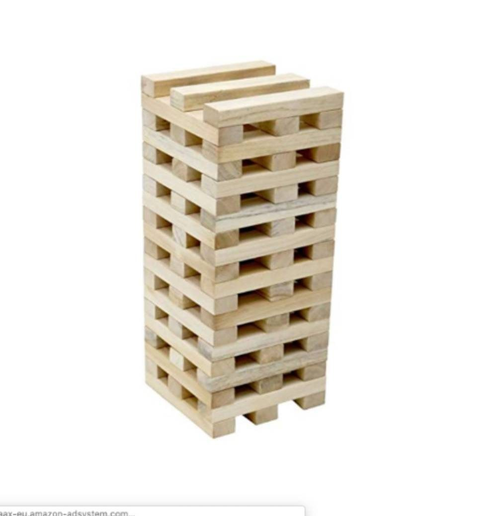 Giant wooden Jenga set