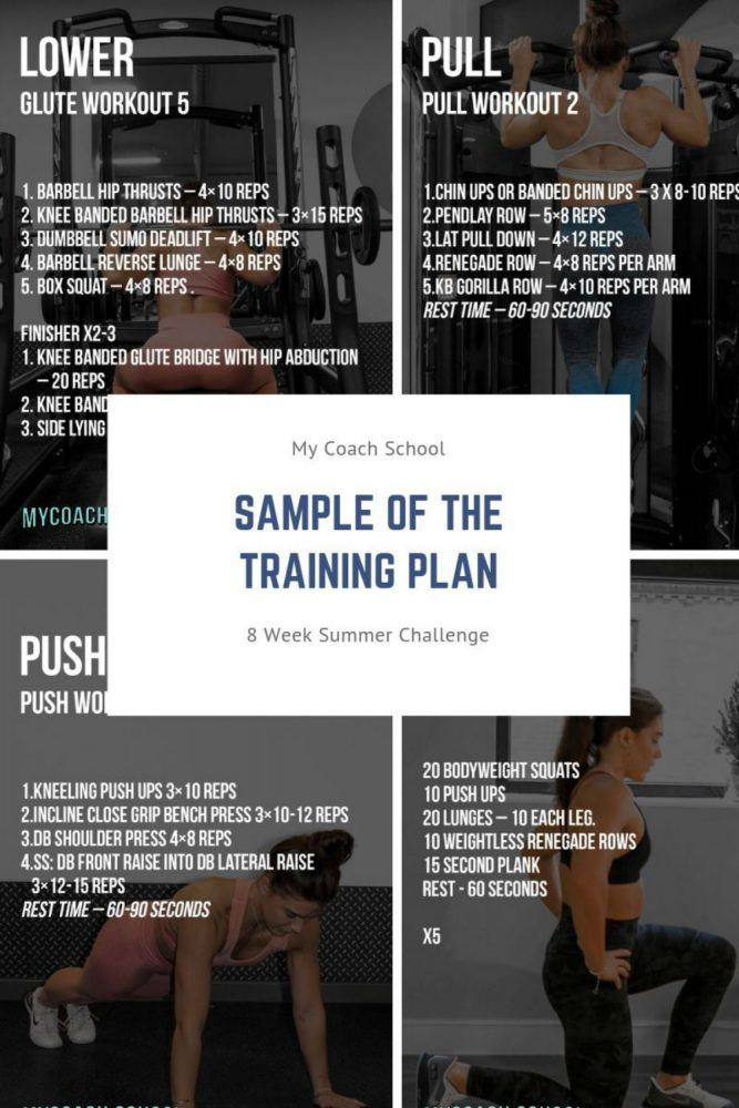 4 summer challenge workout cards