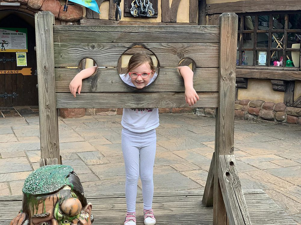Mia in the stocks!
