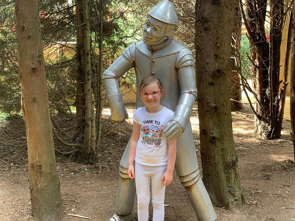 Mia with Tin Man