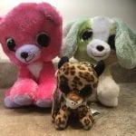 3 Lumo Stars Plush Toys