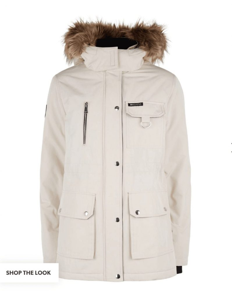 Stone coloured winter coat