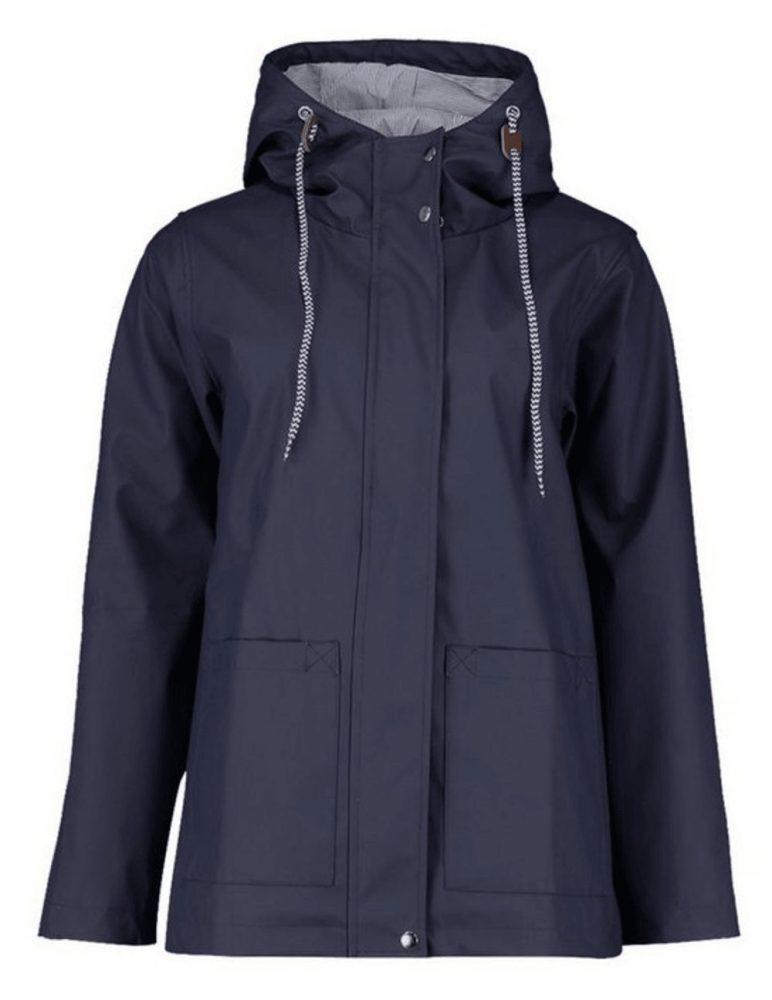 Navy Mac with hood