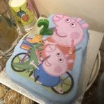 Peppa Pig cake and candles