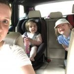 Car selfie with all 3 of us
