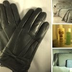 Leather gloves, duck egg duvet set, bath products, handbag and purse