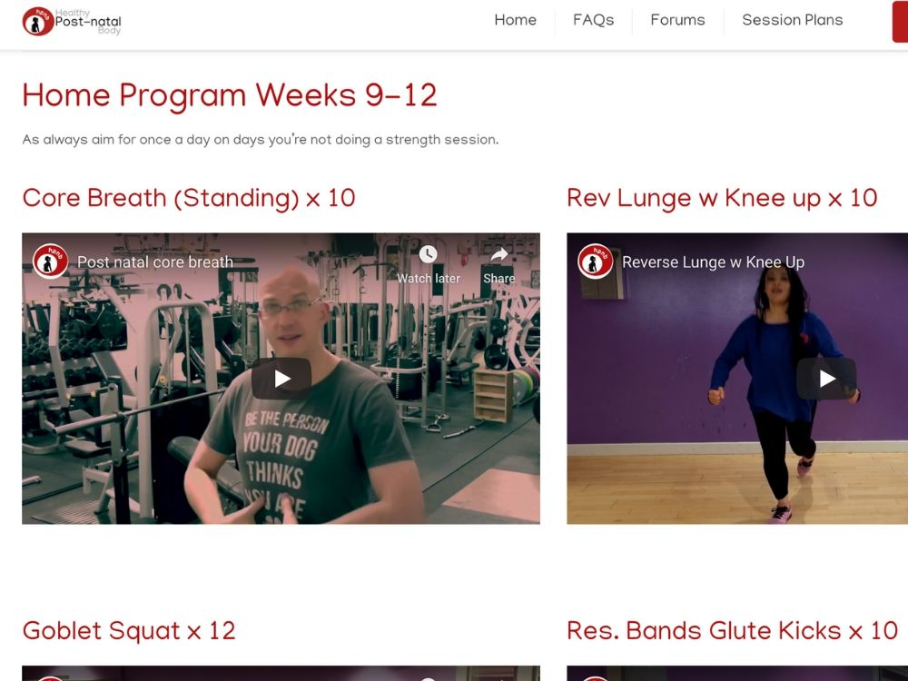Example fitness workouts