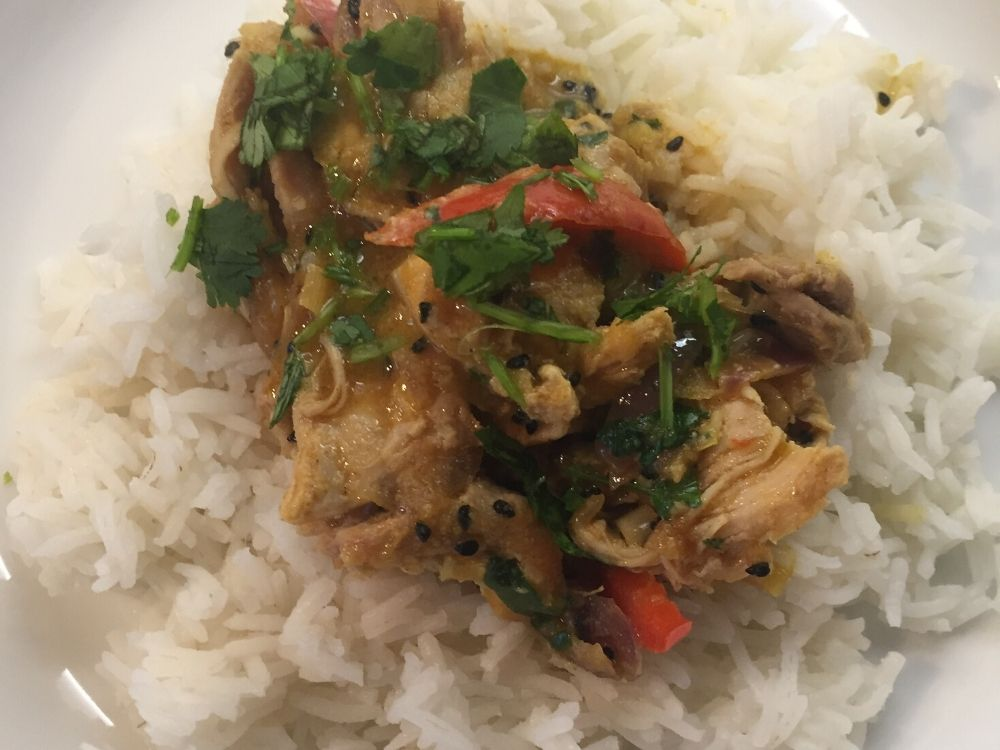 Lemongrass curry and rice
