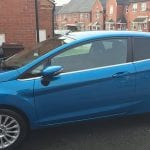 Ford Fiesta in blue