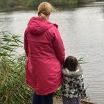 Me and Lottie looking out onto the lake