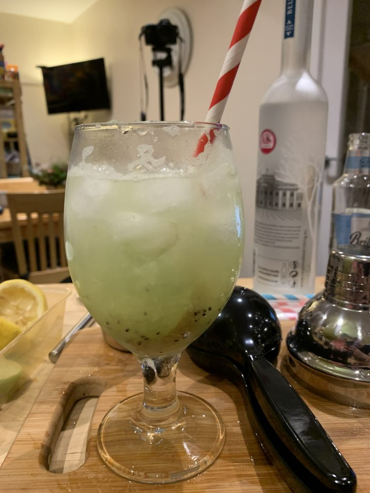 Kiwi Collins cocktail