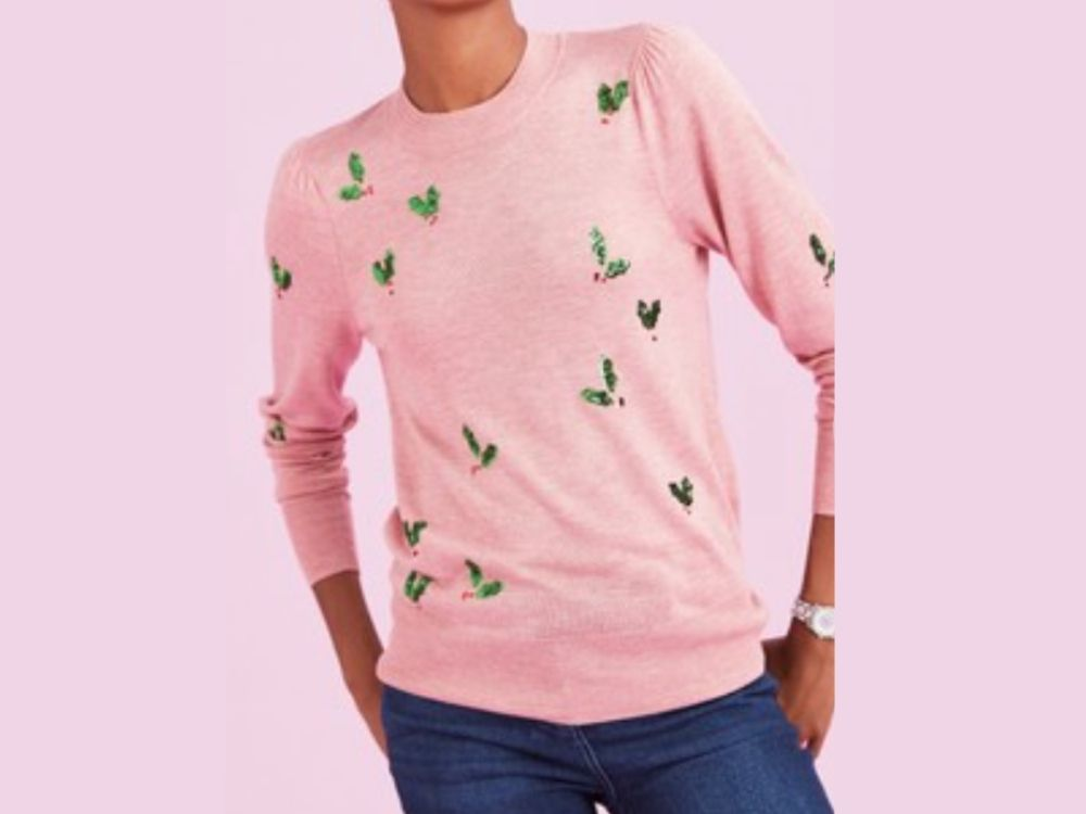 Pink holly jumper