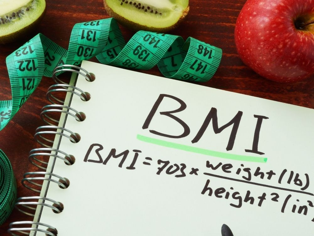 BMI written on a note pad