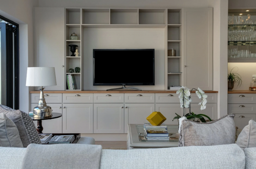 Living Room with TV on the wall