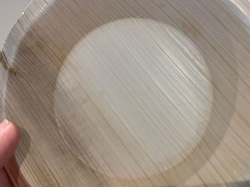 Palm leaf bowl