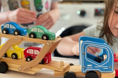 Wooden toy transporter