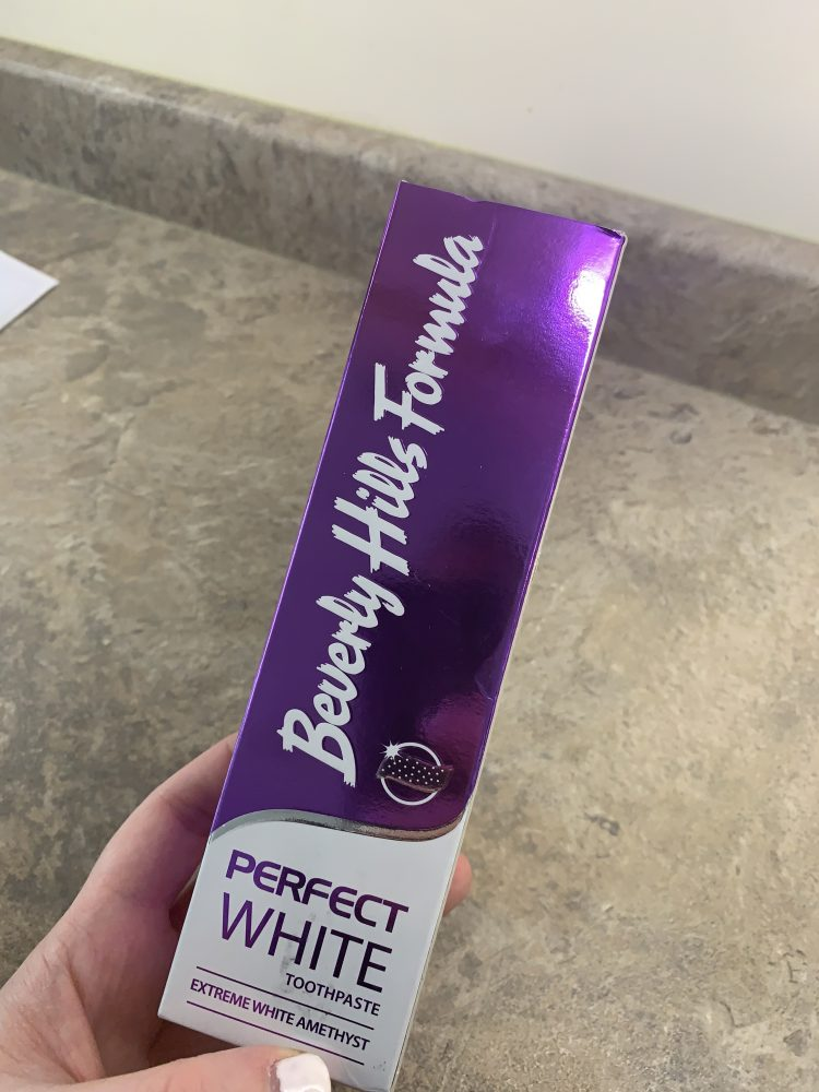 Brighter Whiter Teeth - purple toothpaste
