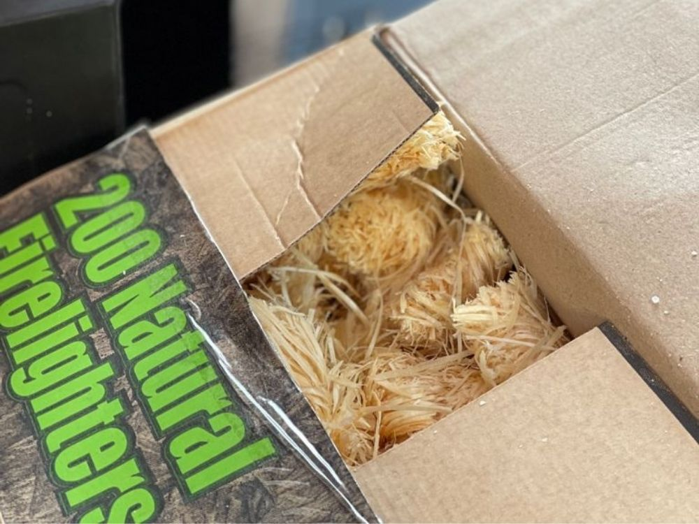 Box of natural firelighters